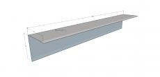 Leveä kulmalista 2 m 0,7 mm PVDF suojakalvolla