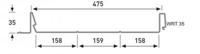 Lukkosauma rivikatto WRT35