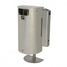 Tuhka- ja roska-astian yhdistelmä 60 l RST